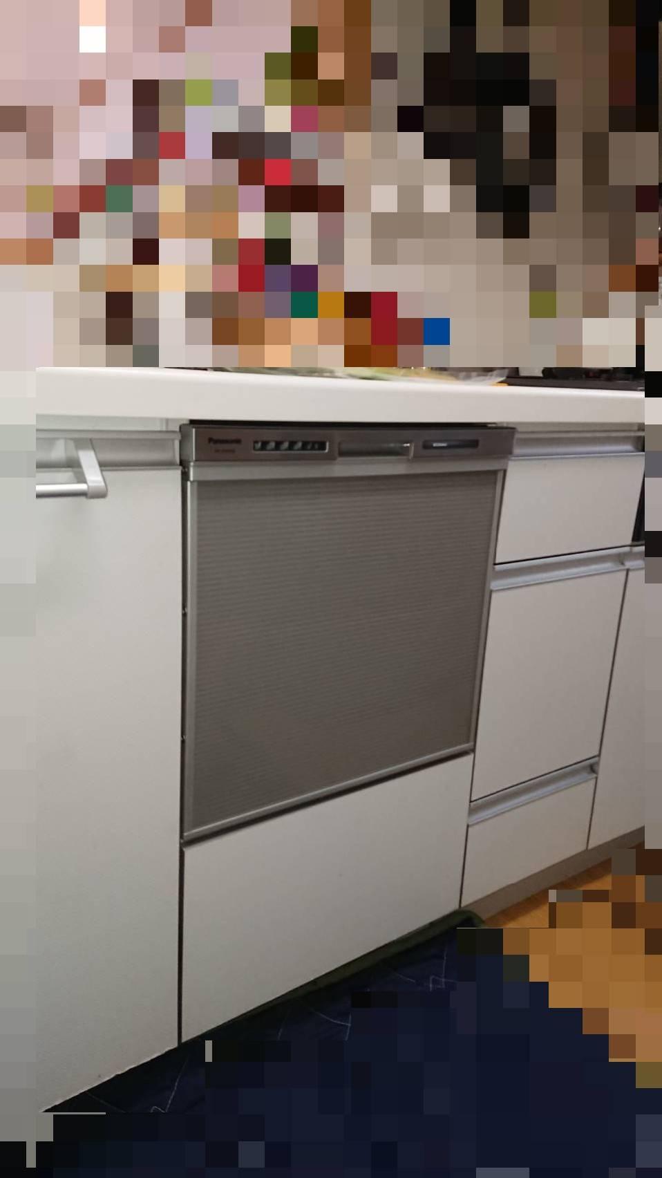 ビルトイン食洗機施工写真